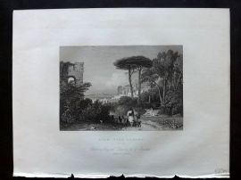 After Barrett 1834 Antique Print. View near Athens, Greece